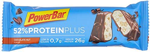 PowerBar High Protein Riegel mit Casein, Whey und Sojaprotein - mit 26g Eiweiß - Low Sugar Eiweiß-Riegel, Fitness-Riegel - 24 x 50g Chocolate Nut -
