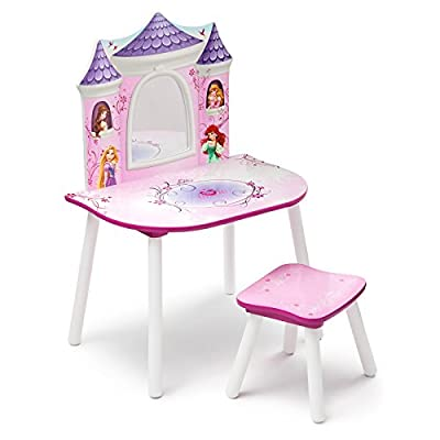 Delta Children Dressing Table & Stool (Vanity Table) - Disney Princess - low-cost UK light shop.