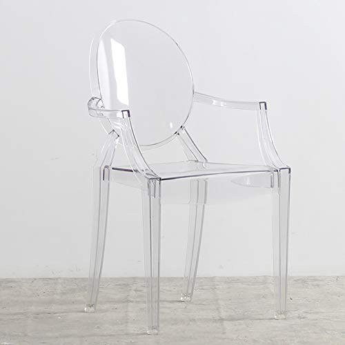 L.BAN Durchsichtiger Kunststoff Pub-Stuhl Mehrzweck Moderner Stil Lounge-Sessel - Stapelbarer Outdoor-stuhl