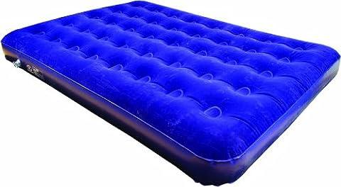Sleepeze Matelas pneumatique double Highlander Bleu 182 x 134 x 20 cm