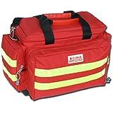 GIMA - Smart väska, röd färg, polyester, tom, trauma, räddningstjänst, läkare, första hjälpen, sjuksköterska, flerficksväska