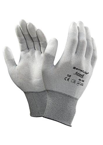 Ansell SensiLite 48-135 Spezialzweck-Handschuhe, Mechanikschutz, Weiß, Größe 6 (12 Paar pro Beutel)