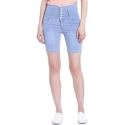 Broadstar Women Denim Ice Blue Short