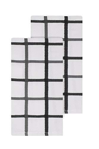 Ritz Kitchen Wears Ägyptische Baumwolle Kollektion 2-teiliges Handtuch Set, kariert Graphit