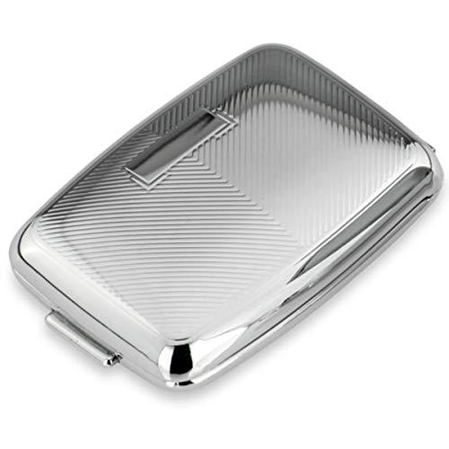 Silberkanne Pillendose mit Gravurfeld 2 Fächer 7x4,5x2 cm Silber Plated versilbert in Premium Verarbeitung