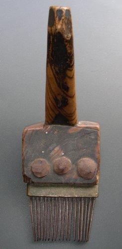 Z-Antico Cardatore Dalla Tribu Di Baktiari Dell' 1830 Circa