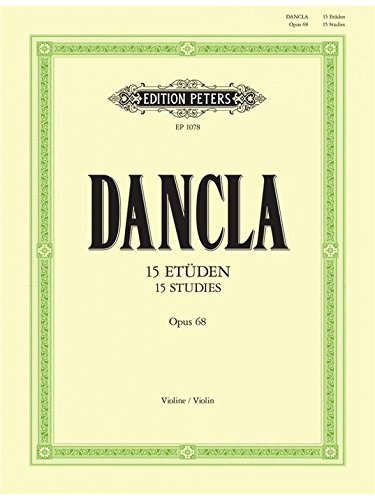 EDITION PETERS DANCLA - 15 STUDIES OP.68 - 2 VIOLINS Classical sheets Violin