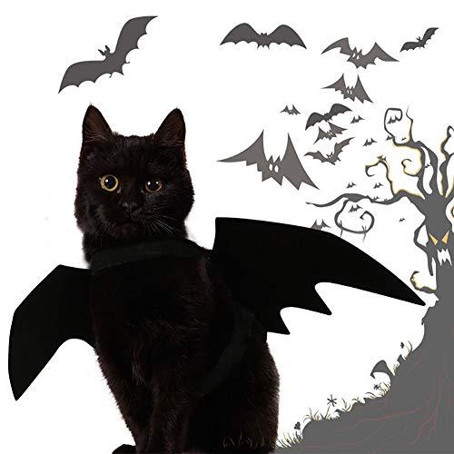 1PC PET bat Wings für Hunde Katzen Haustier lustige Kostüm FledermausFlügel PET Halloween Kostüme Flügel (schwarz)