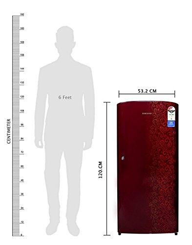 Samsung RR19J21C3RJ Direct-cool Single-door Refrigerator (192 Ltrs, Red Tendril)