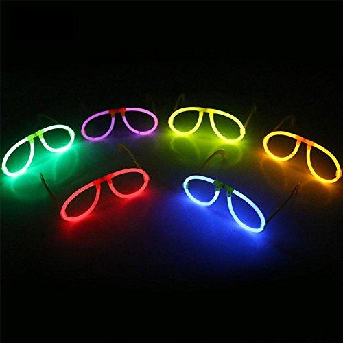 Kicode Occhiali lampeggianti Occhiali da sole di 6Pcs Zufällige Farbe Light Stick Telaio dello specchio Per il partito dei bambini Partito festivo (The Birthday Dark Party Glow Supplies In)