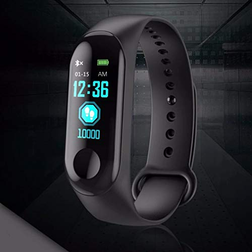 Dichkau Fitness Tracker Tracker with Waterproof Functions Like Steps Counter Calorie Counter Blood Pressure Heart Rate OLED Touchscreen