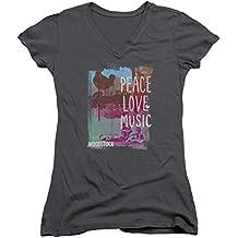 Woodstock - Frauen mit V-Ausschnitt T-Shirt Plm