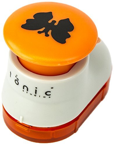 Tonic Studios 852E Medium Boot Punch-Butterfly, White/ Orange by Tonic Studios (Tonic Boot Studios)