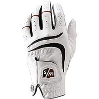 Wilson Staff Men's Grip Plus Golf Glove, Left Hand, White, Medium