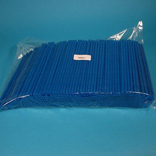 Pro DP 500 Jumbo Trinkhalme Strohhalme Trinkröhrchen Trinkstäbchen Shakehalme Kunststoff blau 25cm 6-8mm Durchmesser extra dick für Softdrinks, Milchshakes, usw. günstige Großverbraucher Packung