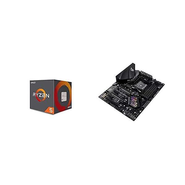 AMD YD260XBCAFMAX Ryzen Processor with Wraith Max RGB LED Cooler 41ergbTQYML