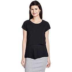 United Colors of Benetton Women's Body Blouse Top (16A3CV4E9645I100XS_Black)