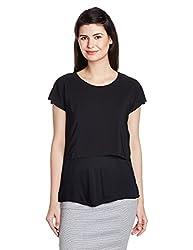 United Colors of Benetton Womens Body Blouse Top (16A3CV4E9645I100S_Black)