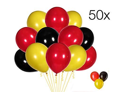 ler 50x Luftballons Mix Ballons Balloons Luftballon Ballon schwarz, Gold, schwarz Latexballons für Helium und Luft ()