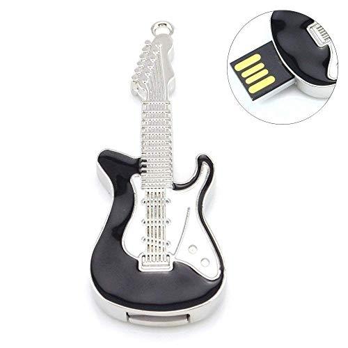 Shooo 32GB Metal Guitarra Memoria USB Tarjeta de memoria,negro