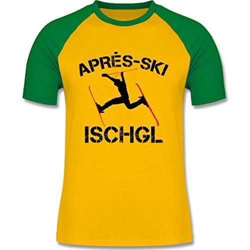 Après Ski - Apres Ski Ischgl - Herren Baseball Shirt Gelb/Grün