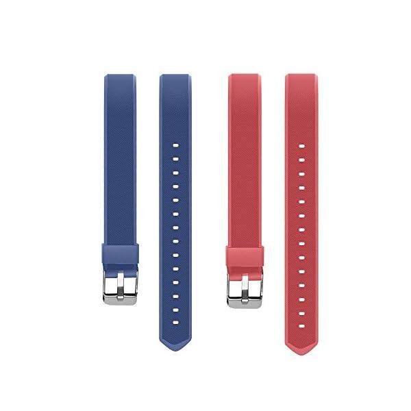 Aitoo® ID115 Plus Correas de Repuesto de TPU para Reloj de Pulsera de Fitness ID115 Plus HR, 5 Colores, Negro/Azul/Morado/Verde/Rosa 9