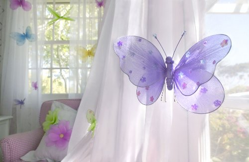 """Heart to Heart Heart To Heart Hanging Butterfly 5"""" Small Blue Nylon Butterflies Girls Room Ceiling Wall Décor"""