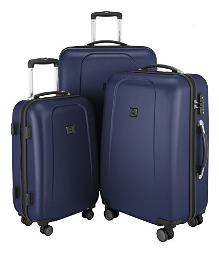 HAUPTSTADTKOFFER - Wedding - 3er Koffer-Set Trolley-Set Hartschalen-Koffer Rollkoffer Reisekoffer, TSA, (S, M & L), Dunkelblau