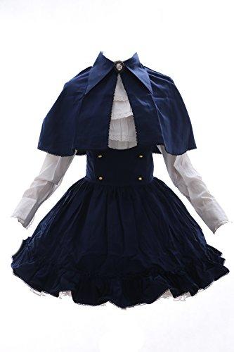 Kawaii-Story JL-584 blau weiß Classic Gothic Lolita Cape Bluse Rock Set Kostüm Kleid Dress Cosplay (EUR Gr. - Blaue Und Weiße Kleid Kostüm