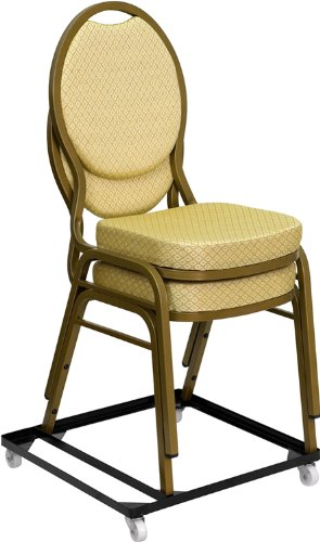 T & D Enterprises FD-BAN-CH-DOLLY-GG HERCULES Series Steel Stack Chair and Church Chair Dolly, Black by T & D Enterprises