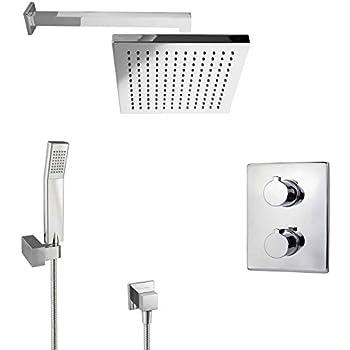 paulgurkes regendusche unterputz dusch set mit thermostat eckig baumarkt. Black Bedroom Furniture Sets. Home Design Ideas