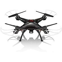 EDW SYMA X5SW / X5SW-1 de 2,4 GHz de 4 canales RC 50M Drone Quadcopter Con 0.3MP HD cámara 6-Axis Función Canal WiFi FPV RC Quadcopter helicóptero Juguetes Flip 3D de vuelo UFO RTF (negro(black)X5SW)
