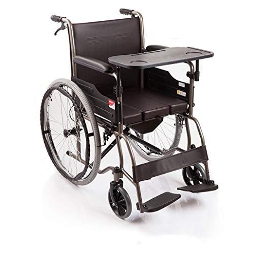 Alter Einfachheit Alter Einfachheit Rollstühle Falten Reisen Alter Einfachheit Rollstuhl, Vollstahlrohrverstärkung Alter Einfachheit Rollstuhl, Tragbares Falten, Toilette, Ältere Menschen, Behinderte (Portable Toiletten Für ältere Menschen)