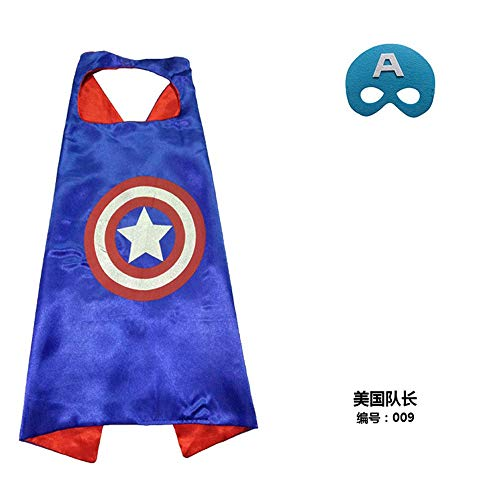 FANCYTHAT & SCIFI PLANET Captain America Childs Cape and Mask Set Fancy Dress Halloween Costume