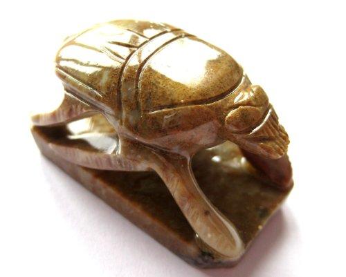 Preisvergleich Produktbild Tiergravur aus Speckstein Skarabäus 4 cm
