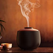 Excelvan 240ml Umidificatore Ceramica con Telecomando Umidificatore Oli Essenziali con LED a 7 Colori per Ufficio Casa Yoga 10 Ore Sperlungo uso