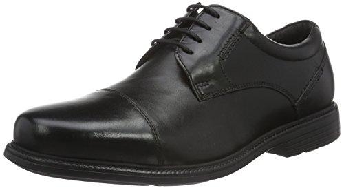 Rockport Charlesroad Captoe, Derby homme Noir - Noir