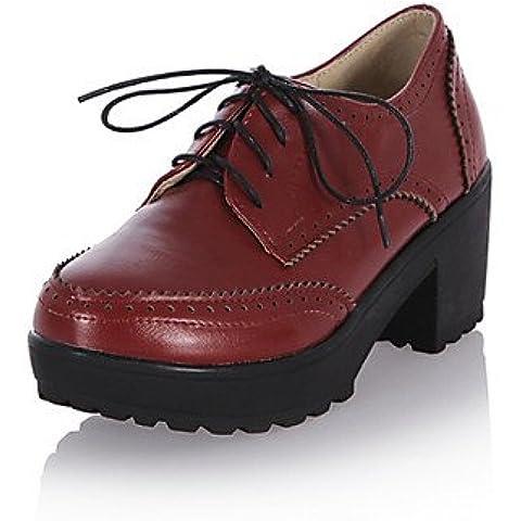 ZY/scarpe da donna tacco grosso tacchi/Basic Pompa Pompe/Tacchi Ufficio & carriera/vestito/casuale, 2in-2 3/4in-brown