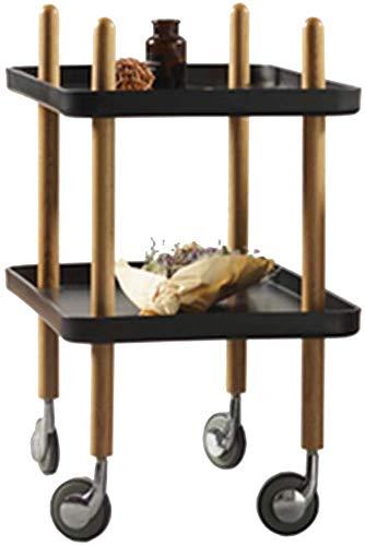 KaiKai Tabelle Kaffee Freizeit Füttern Kleinwagen bewegen Rolle Nacht Medical (Farbe schwarz, Größe 60 * 40 * 68cm / 24 * 16 * 27inch) (Color : Black, Size : 60 * 40 * 68cm/24 * 16 * 27inch) -