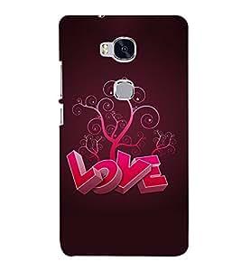 Love 3D Hard Polycarbonate Designer Back Case Cover for Huawei Honor 5X :: Huawei Honor X5 :: Huawei Honor GR5