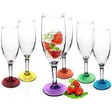 6 Sektgläser Mix Sektkelche Champagner Prosecco Gläser Sektglas Proseccoglas 0,1