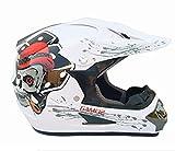 Szeao Casco Motocross DOT Casco Omologato ECE Casco Cross DH Enduro Quad Moto Integrale Bambino Uomo Donna,24,S