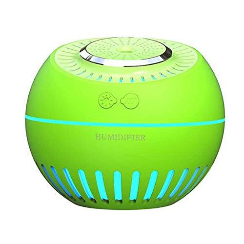 MIAOQIONG Tragbares Multifunktions-Nebel-Befeuchter USB Moisturizing Luftreiniger Multi-Funktions-Haushalt Schlafzimmer Aromabefeuchter, Grün