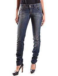 Galliano Damen MCBI130031O Blau Baumwolle Jeans