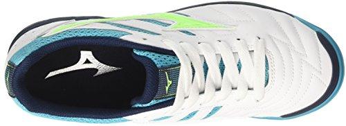 Greengecko Homme Chaussures Futsal Mizuno A Classico De Sala 35 Multicolore 2 Peacockblue bianco nwCnq0Zv
