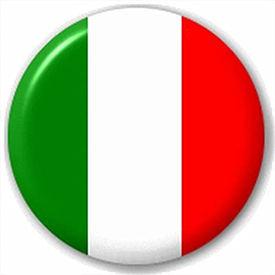 (D Pin) 25mm Lapel Pin Button Badge: Italy - Italian Flag