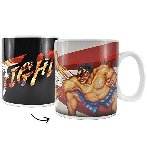 Street Fighter E. Honda vs. Zangief Kaffeebecher mit Wärmeeffekt - Tasse Kaffeetasse