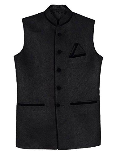 BIS Creations Black Colour Men's Waistcoat- Party Wear