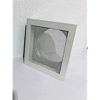 Hot Air Grill / Oven Grille Temperature Resistant 180 x 180 mm White with Mounting Frame