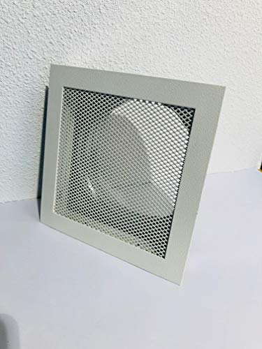 Griglia ad aria calda, Griglia Forno, Griglia di ventilazione resistente alle alte temperature Bianco 180X 180mm con cornice per incasso